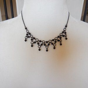 Vintage gothic style necklace with dangling beads